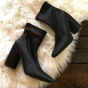 Jessica Simpson Black Windee Sock Heel Booties